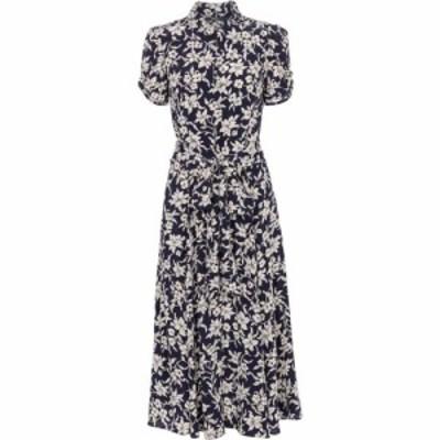 ラルフ ローレン Polo Ralph Lauren レディース ワンピース ミドル丈 ワンピース・ドレス floral midi dress Navy/Cream Floral