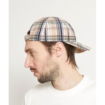 PUBLIC TOKYO / ドローイングチェックキャップ MEN 帽子 > キャップ