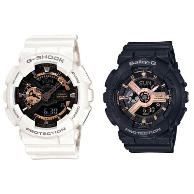 CASIO カシオ ペアウォッチ Gショック ベビーG アナデジ ローズゴールド ホワイト ブラック 海外モデル GA-110RG-7ABA-110RG-1A あすつく 腕時計