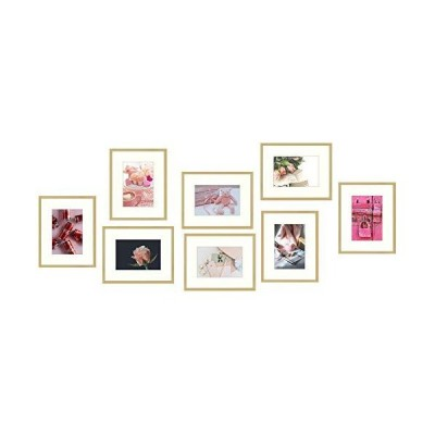 Golden State Art, Gold Aluminum Picture Frame Displays Photos. Shatter-Resistant Glass. Easel Stand Included. Wall Display
