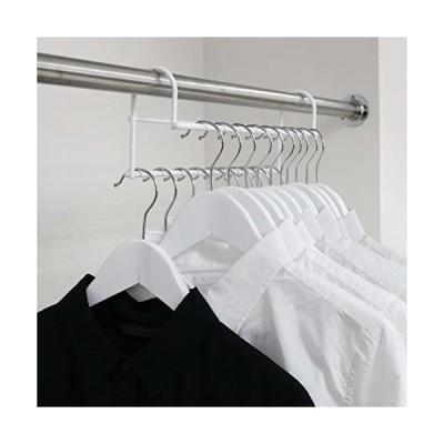 ハンガー 衣類収納アップハンガー 2本組 (ホワイト)