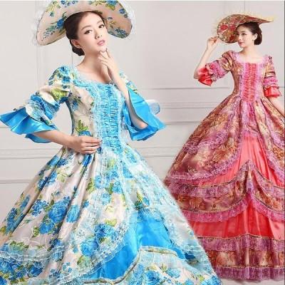 ドレス レディース パーティードレス ステージ衣装 コスプレ衣装 コスチューム ロリータ風 宮廷服 貴族風 洋風ドレス プリンセス