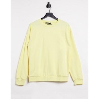 アイソウイットファースト レディース パーカー・スウェットシャツ アウター I Saw It First sweatshirt in yellow Yellow