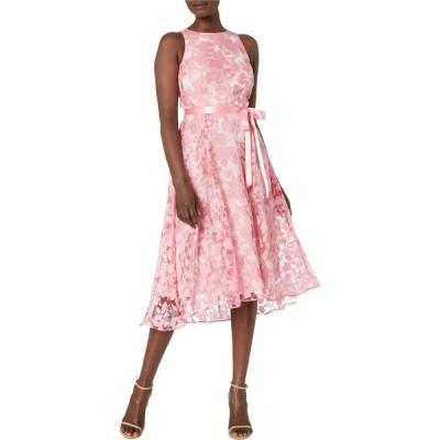タハリ Tahari by ASL レディース パーティードレス ワンピース・ドレス Party Dress w/ Flare Skirt Pink/Ivory