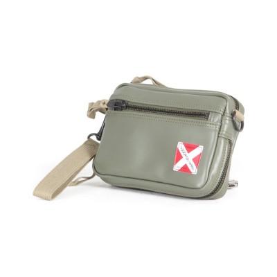 【カバンのセレクション】 吉田カバン ラゲッジレーベル ライナー ウエストポーチ メンズ レディース 赤バッテン LUGGAGE LABEL 951-09244 ユニセックス カーキ フリー Bag&Luggage SELECTION