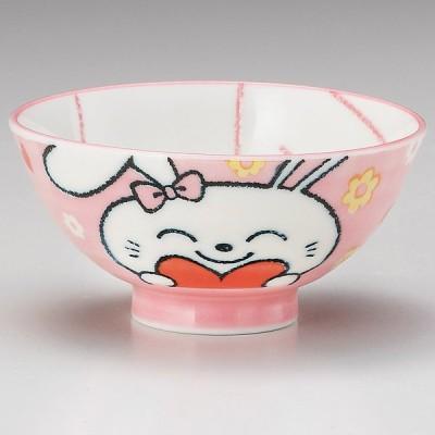 業務用食器 ハートピンクウサギ孫平 φ10.4×5.2�