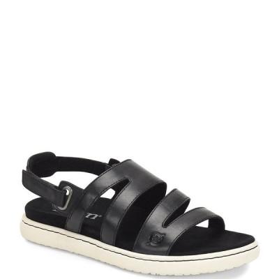 ボーン レディース サンダル シューズ Dhyr Strappy Leather Sandals Black