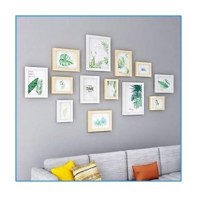 新品Set of 13 Collage Picture Frame,Family Decor Wall Mounting Photo Frame,DIY Your Home Picture Frame Included 2,8x10 6,5X7 5,3X5-Wood Se