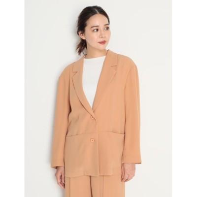 【ミラオーウェン】 ポケットデザインイージースーツジャケット レディース オレンジ 1 Mila Owen