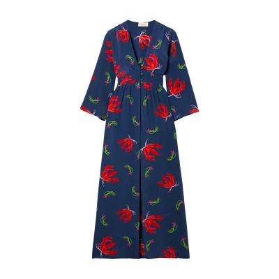 JALINE ビーチドレス ダークブルー S シルク 100% ビーチドレス