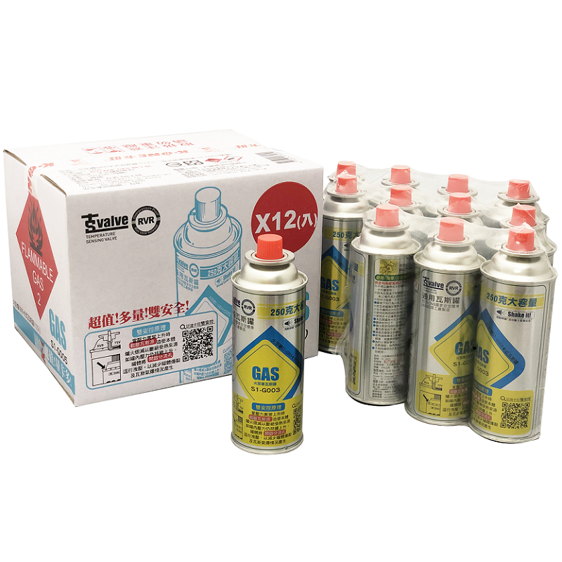 火至尊G005卡式瓦斯罐(12入)