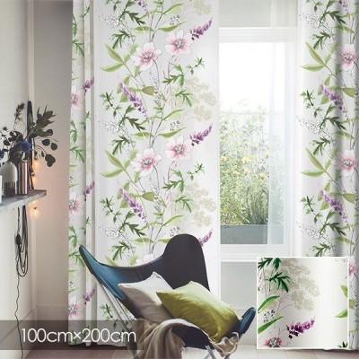 Disney カーテン MICKEY ミッキー Wild flower / ワイルドフラワー 100×200cm (メーカー直送品)