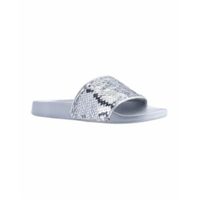 ゲス レディース サンダル シューズ Women's Savan Flat Sandals Silver-Tone