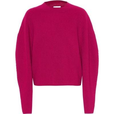 クロエ Chloe レディース ニット・セーター トップス ribbed wool and cashmere sweater Smoked Red