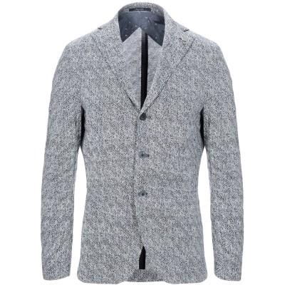 パオローニ PAOLONI テーラードジャケット ダークブルー 50 コットン 100% テーラードジャケット
