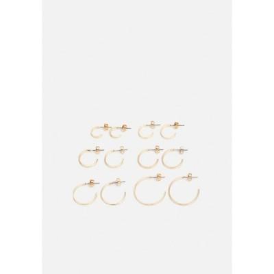 ピーシーズ ピアス&イヤリング レディース アクセサリー PCSANNY HOOP EARRINGS 6 PACK - Earrings - gold-coloured