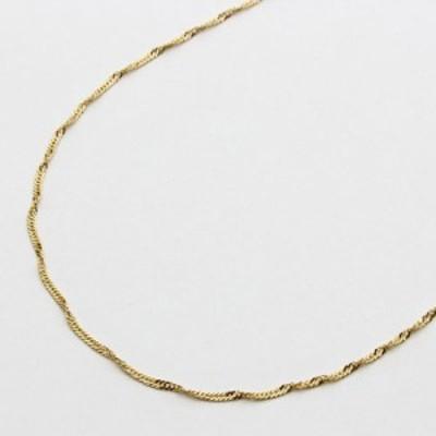 18金 ネックレス チェーン K18 42cm 0.7g スクリューチェーン