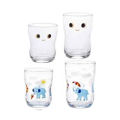 [セット品] アデリア つよいこグラス nico S&Mセット+つよいこグラスS+M かくれんぼ ぞう