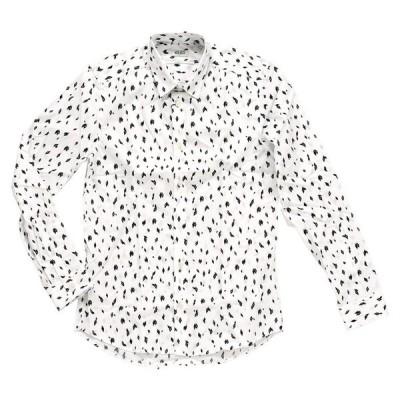 ケンゾー ダイヤ プリント シャツ KENZO Chemise Print Shirt F765CH2001KG 01 メンズ 柄 ホワイト(otr2005) 【並行輸入品】
