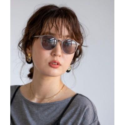 coen レディース ボストンファッッショングラス2 ファッション雑貨 サングラス ダークグレー