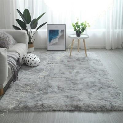 シャギーラグ 洗濯可 ムートン調 じゅうたん 洗える シャギーラグ ラグ リビング 白 ブラック 絨毯 洗えるカーペット ホットカーペットカバー ホワイト 正方形