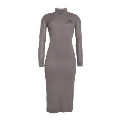 PHILIPP PLEIN 7分丈ワンピース・ドレス ドーブグレー S ウール 100% 7分丈ワンピース・ドレス