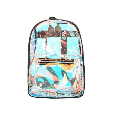NOTAG 透明バッグ リュックサック クリア PVC バックパック 軽量 可愛い オーロラ ファッション 防水 学生リュッ