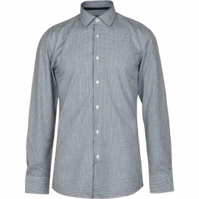 ヒューゴ ボス Boss メンズ シャツ トップス Jesse Gingham Shirt Navy