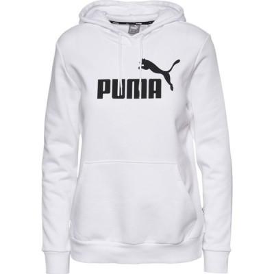 プーマ PUMA レディース パーカー トップス Essential Logo Hoodie White