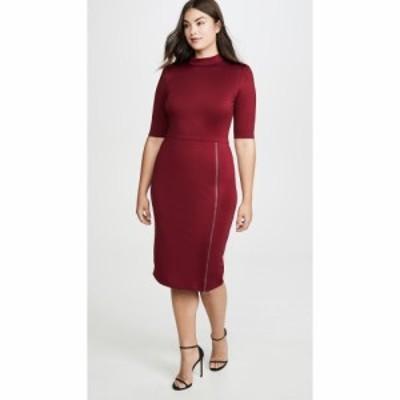 アリス アンド オリビア alice + olivia レディース ワンピース スリットワンピース Inka Straight Shoulder Mock Neck Slit Mini Dress