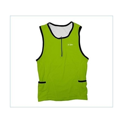 ScudoPro Green Neon Triathlon Top for Men - Size 3XL並行輸入品