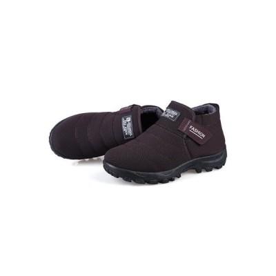 スニーカー メンズ ブーツ 保温 靴 ファー付き レイン シューズ 防寒  防滑 アウトドア スノーブーツ 雪靴