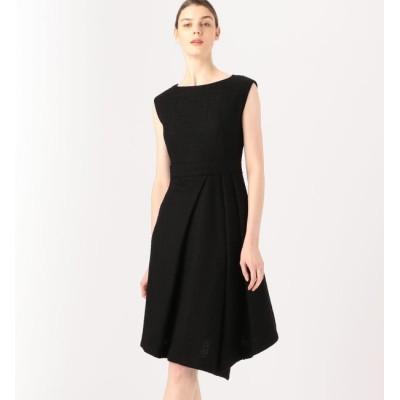 【トゥモローランド/TOMORROWLAND】 BAUME The Black Contemporary アシンメトリックツイードドレス