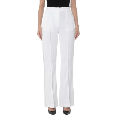 マニラ グレース MANILA GRACE パンツ ホワイト 38 ポリエステル 98% / ポリウレタン 2% / アセテート / レーヨン パンツ
