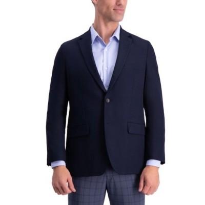 ハガール メンズ ジャケット&ブルゾン アウター Gabardine 4-Way Stretch 2-Button Suit Separate Coat DARK NAVY