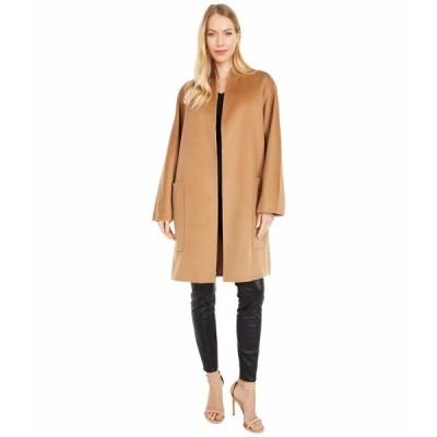 ヴィンス コート アウター レディース Reversible Collarless Coat Oak/Petal