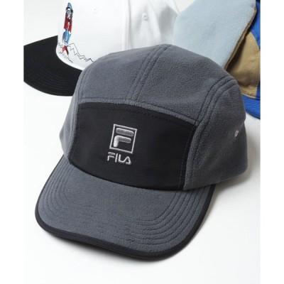 帽子 キャップ 【FILA heritage】フロントロゴ刺繍 フリース ジェットキャップ