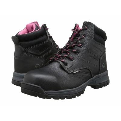 """ウルヴァリン ブーツ&レインブーツ シューズ レディース Piper Waterproof Composite Toe 6"""" Boot. Black"""