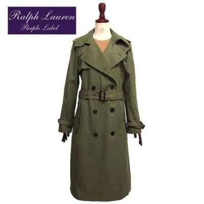 ラルフローレン コレクション パープルレーベル レディース トレンチコート/グリーン Purple Label by RalphLauren Sinclair Trenchcoat