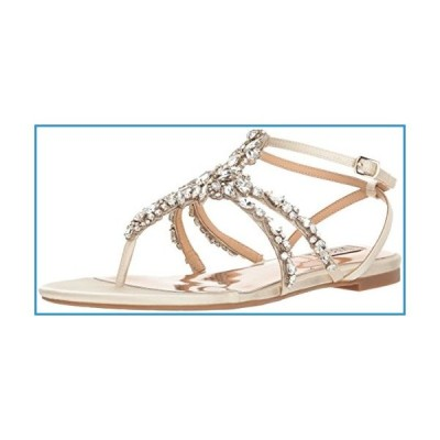 新品Badgley Mischka Women's Hampden Flat Sandal, Ivory, 6 M US【並行輸入品】