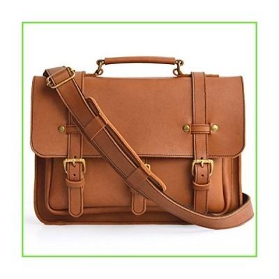 Marlondo Leather Businessman's Briefcase - Full Grain Leather, Solid Brass Zipper (Tobacco)【並行輸入】【新品】