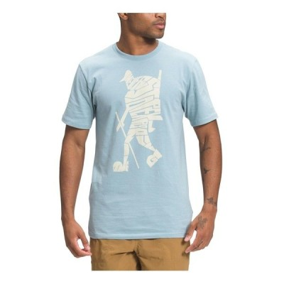 ノースフェイス Tシャツ トップス メンズ Mens Hiker Evolution Short Sleeve Tee Tourmaline Blue