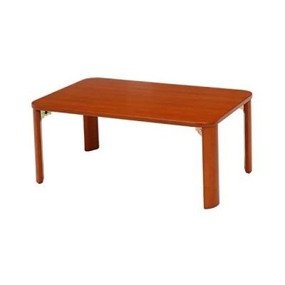 不二貿易 折りたたみ ローテーブル 幅90cm ブラウン 木製 12841 (ブラウン 幅90cm)