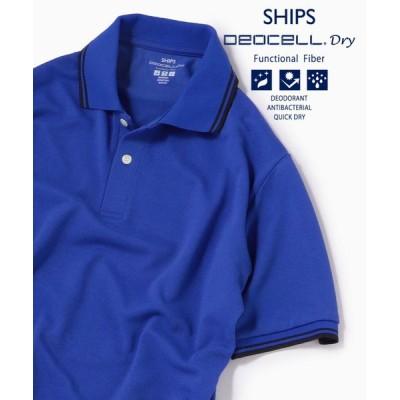 SHIPS / SC:【WEB限定】高機能消臭糸デオセル(R))使用 消臭・抗菌 ライン ポロシャツ MEN トップス > ポロシャツ