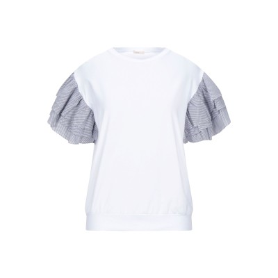 LIM T シャツ ホワイト 42 コットン 94% / ポリウレタン 6% T シャツ