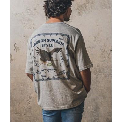 tシャツ Tシャツ mt6642-Print Big Tee - Bandana Eagle Tシャツ