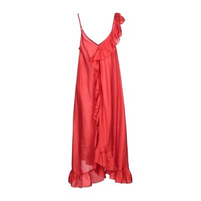 MES DEMOISELLES ロングワンピース&ドレス レッド 42 シルク 100% ロングワンピース&ドレス