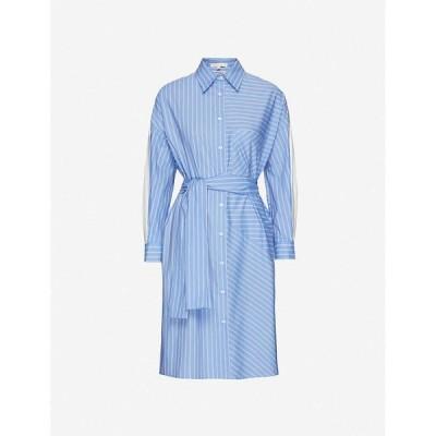 マージュ MAJE レディース ワンピース ワンピース・ドレス Roxelle striped cotton-poplin dress LIGHT BLUE