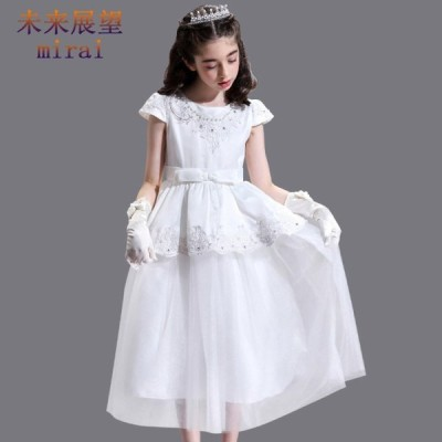 素敵なドレス 子供ドレス ピアノ発表会 プリント ドレス 女の子 二次会 花嫁 ジュニア 結婚式 キッズドレス 子供服 フォーマル