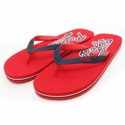 【中古】ポロ ラルフローレン POLO RALPH LAUREN ビーチサンダル トング ロゴ 赤系 レッド系 靴 ☆AA★ メンズ